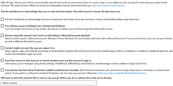 Delete My Microsoft Account