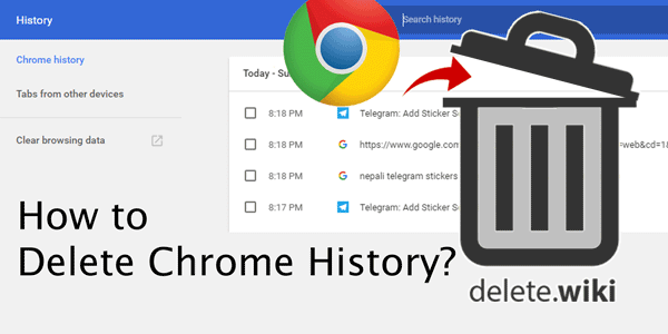 how to not keep history on chrome