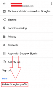 Eliminate Google Plus Account