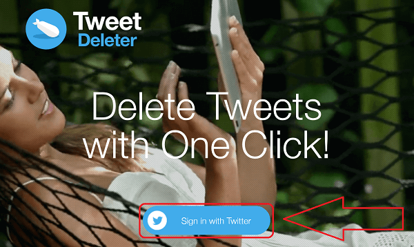 Delete all tweets at once