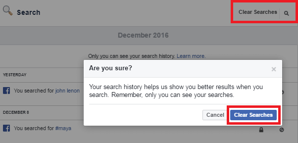 Remove Facebook Search