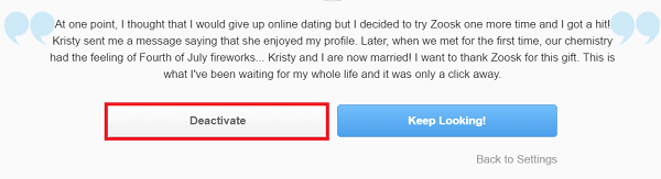 Remove Zoosk Account
