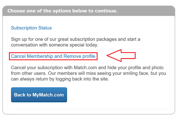 How to deactivate match account