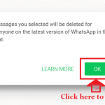 How to delete WhatsApp message?