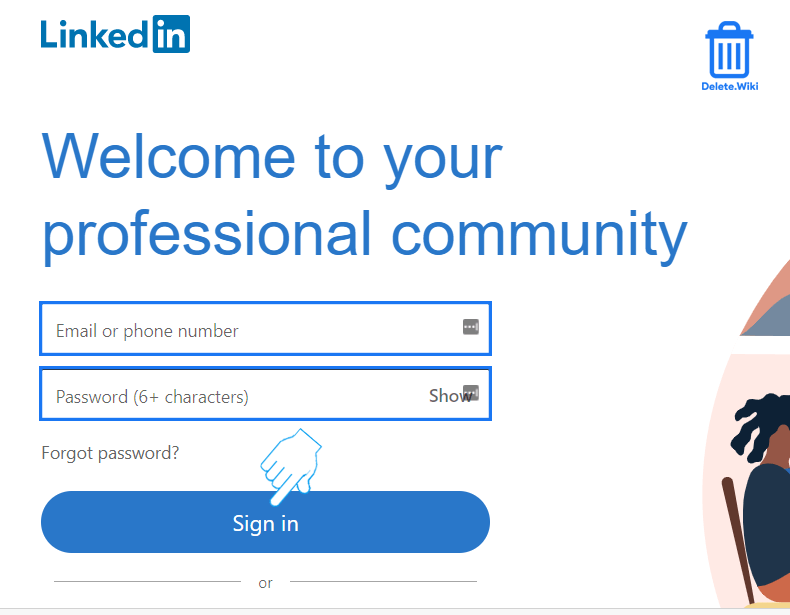 Sign in to Linkedin