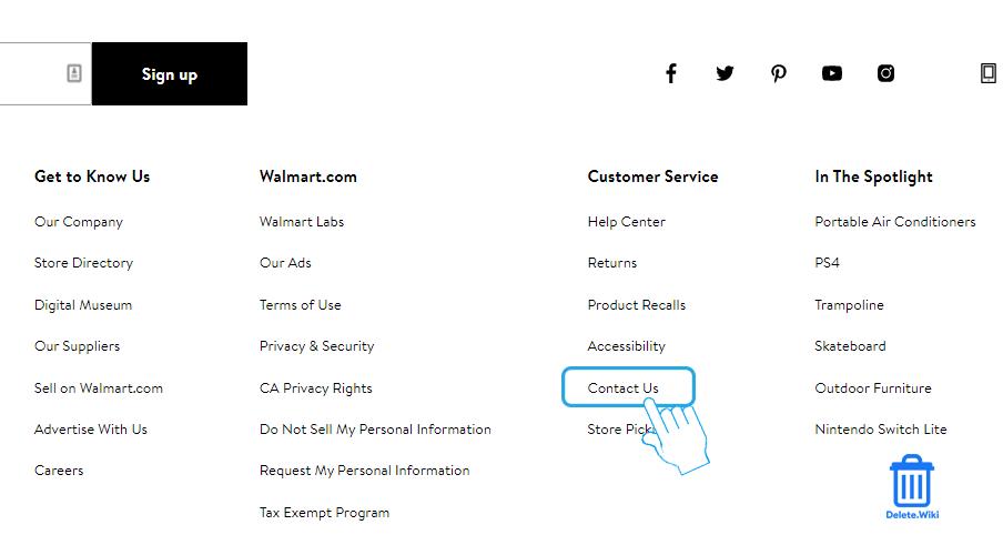 Select Contact Us