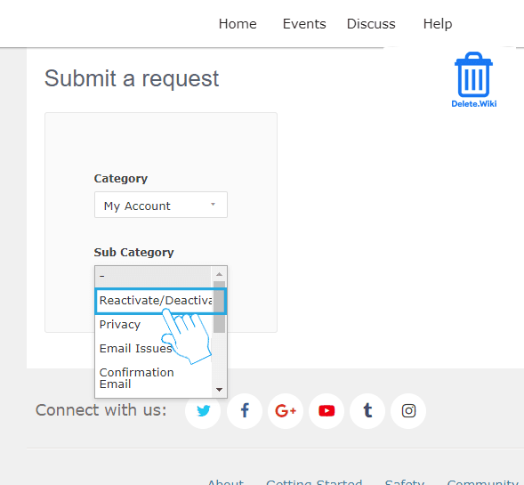 Select Reactivate or Deactivate orDelete