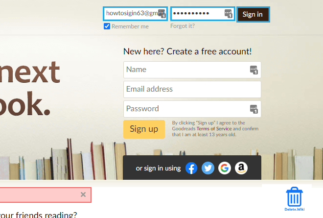 Sign in to Goodreads