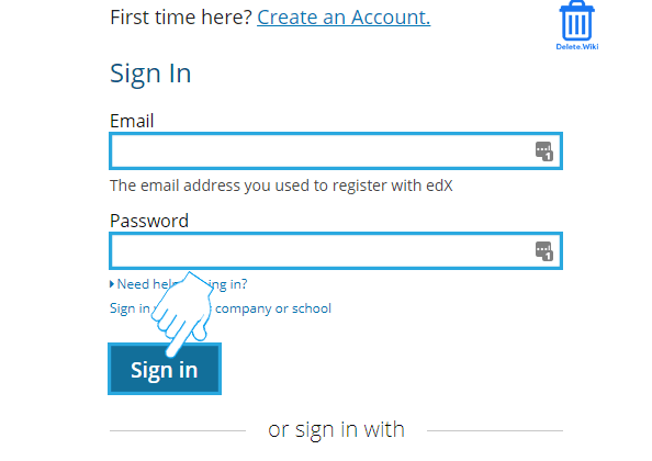 Sign in to edX