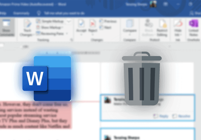 Delete Comments in Word