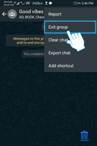 Select Exit group