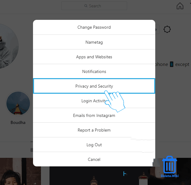 Select Privacy and Security